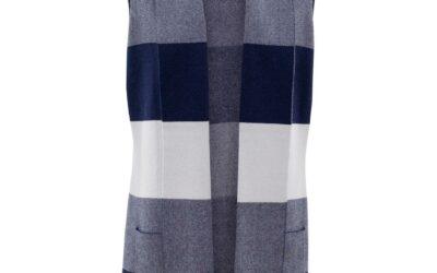 Marble blue check vest