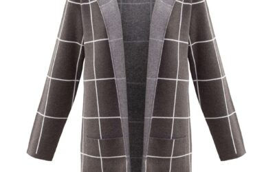 Marble checked cardigan