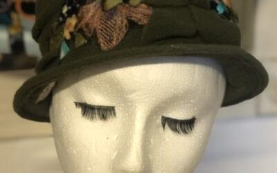 green flower hat