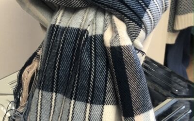 Pia Rossini blue stripe scarf