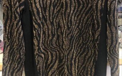Micha black and gold sparkle dress