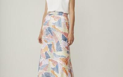 Multi-coloured pastel skirt
