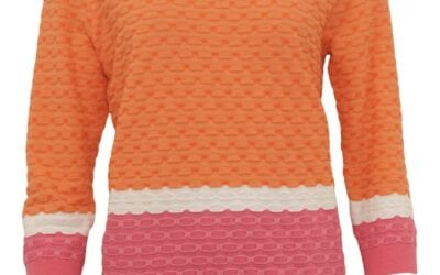 Micha coral pink and white jumper