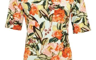 Micha aqua floral t-shirt
