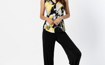 Marble black trousers