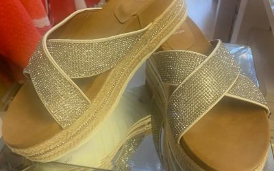 Nour sandals in silver